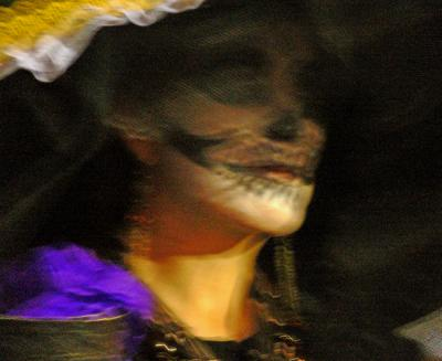 Close-up, Parade of La Katrina, San Miguel de Allende, Mexico, 2005