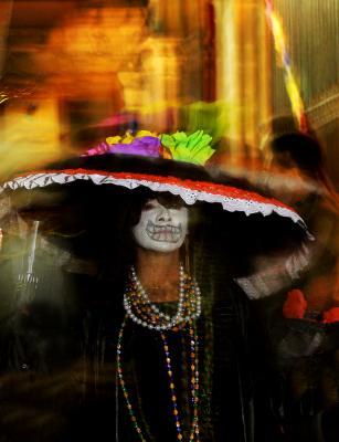 Deathly Pose, Parade of La Katrina, San Miguel de Allende, Mexico, 2005