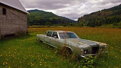 Abandoned sedan, Remote, Oregon, 2006