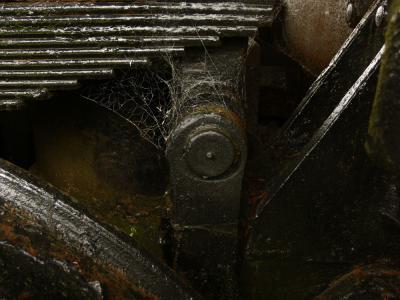 Detail, steam locomotive, Garibaldi, Oregon, 2006
