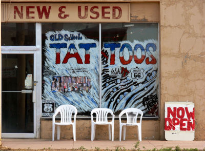 Tattoos new and used, Seligman, Arizona, 2006