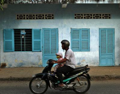 Cyclist, Sadec, Vietnam, 2008