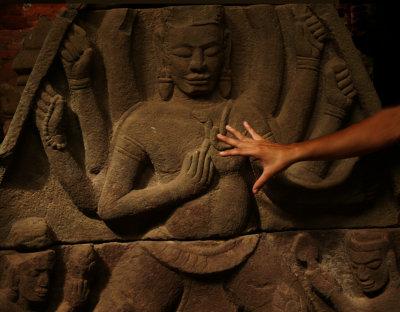 Ancient artifact, My Son, Vietnam, 2007