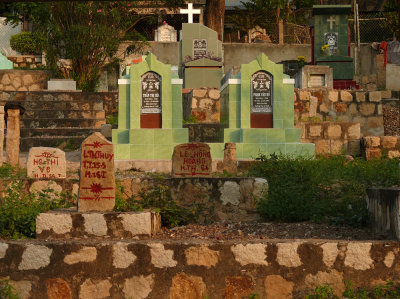 Catholic cemetery, Chau Doc, Vietnam, 2008