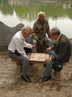 Mental exercise, Jade Mountain temple, Hanoi, Vietnam, 2007