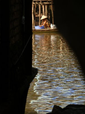 Washing in the Mekong, Long Xuyen, Vietnam, 2008