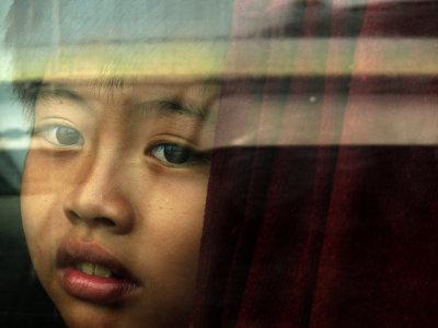 A face in the window, Mekong Ferry, Ben Tre, Vietnam, 2008
