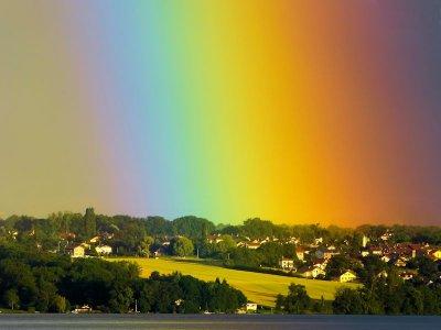 Rainbow sky...