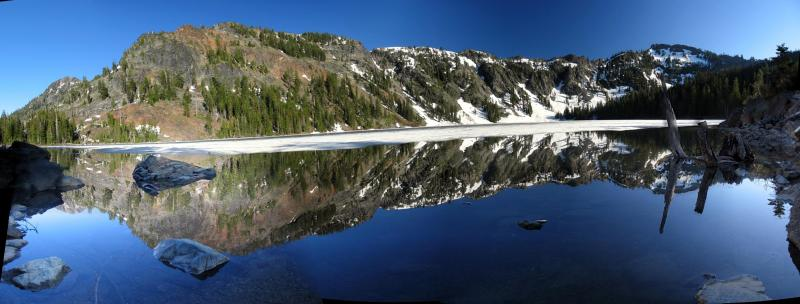 Cliff Lake panorama from west shore