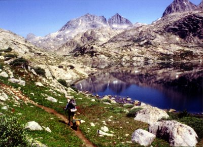 Dr. Bob and Tuckr hiking the CDT in the Wind River Range