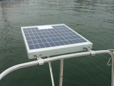 Solar Panels For Boats >> Installing A Small Marine Solar System Photo Gallery By Compass