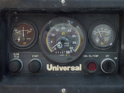 Engine Panel With Ammeter = Dangerous