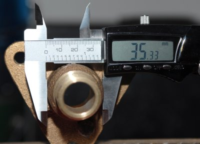 Measuring Outside Diameter of A Flanged Seacock
