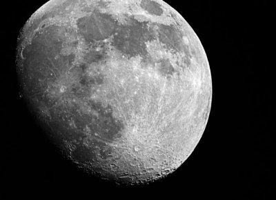 Moon in Black - White