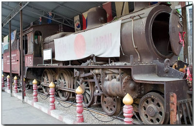 Train used on the Burma - Thailand Railway