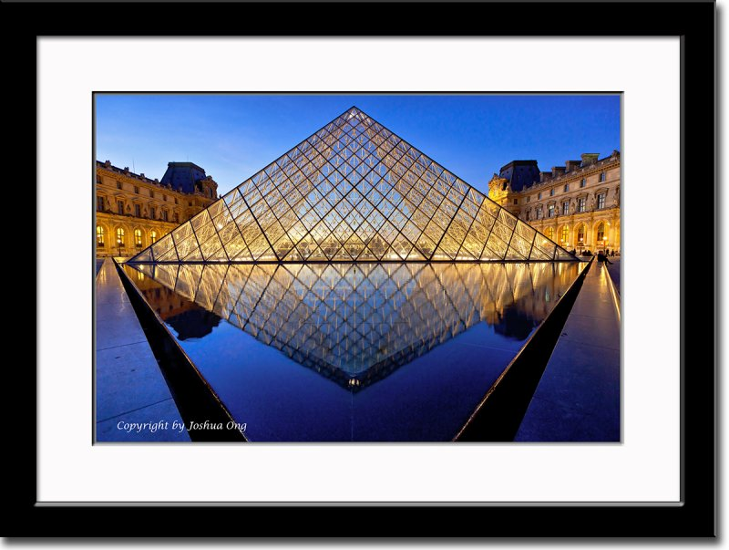 Pyramid with Pavillion Richelieu on the Right and Pavillion Denon on the Left