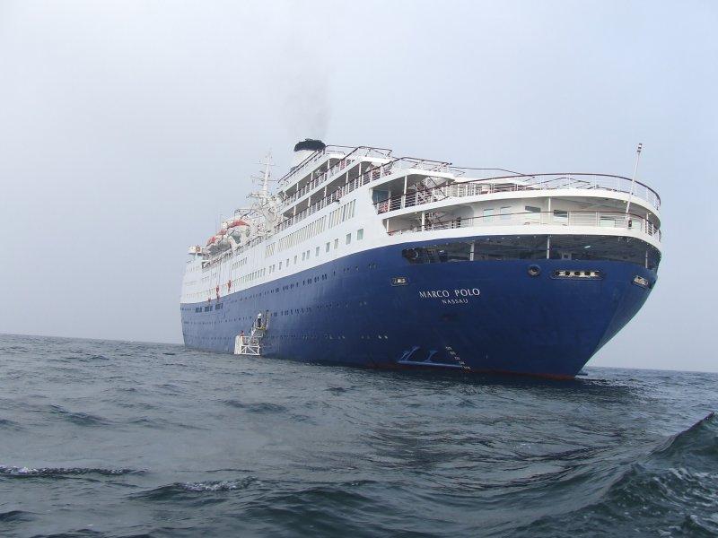 The Marco Polo off the coast of Bornholm (Denmark)