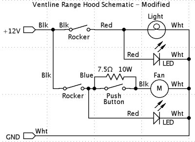 rv.net open roads forum: tech issues: ventline range hood ... range hood switch wiring diagram range with hood light wiring diagram