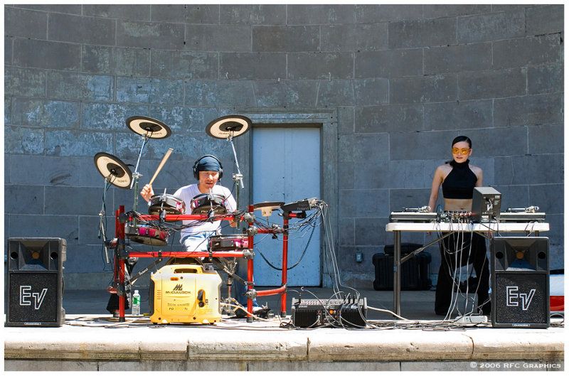 Asian Mushroom & DJ Ruby Red at the Bandshell