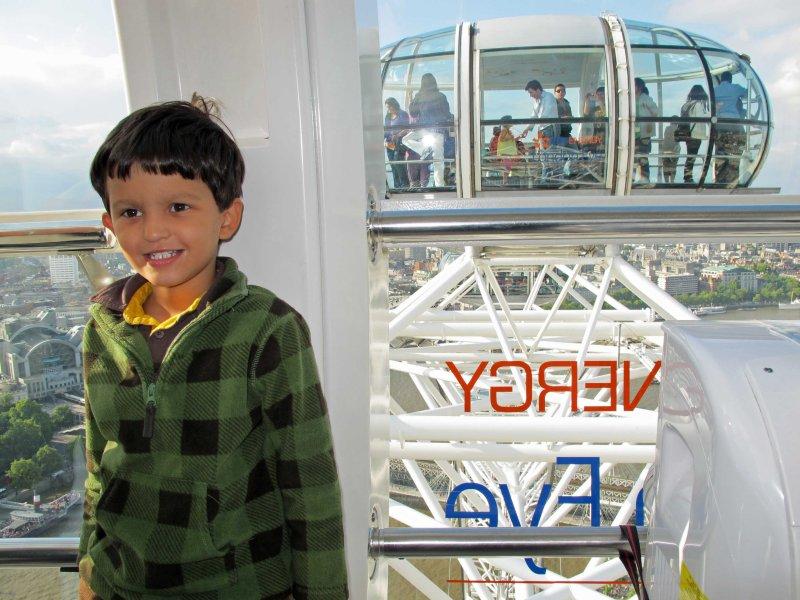 On board the London Eye