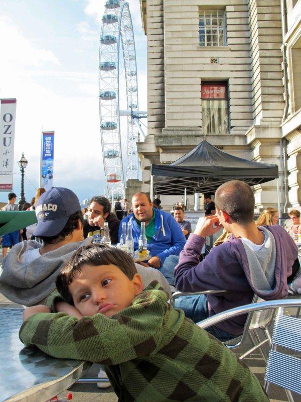 Awaiting the London Eye ride
