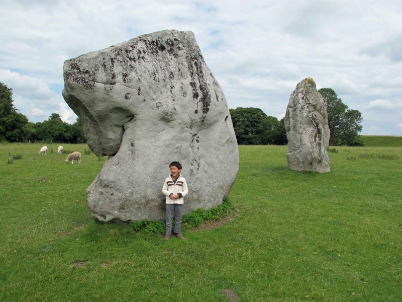 The Avebury stones are touchable