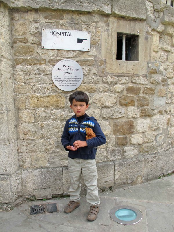 Outside the old debtors prison in Oxford
