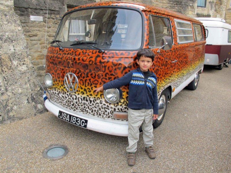 Funky old VW van