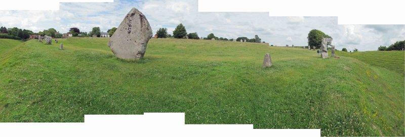Panoramic view of the Avebury henge