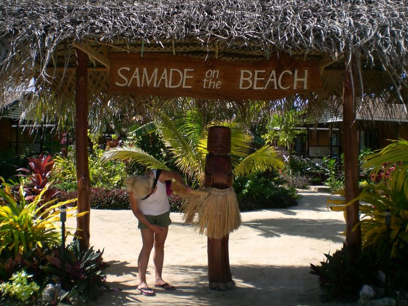 Hanging at Samade on the Beach