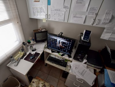 So you think YOUR desk is a mess?