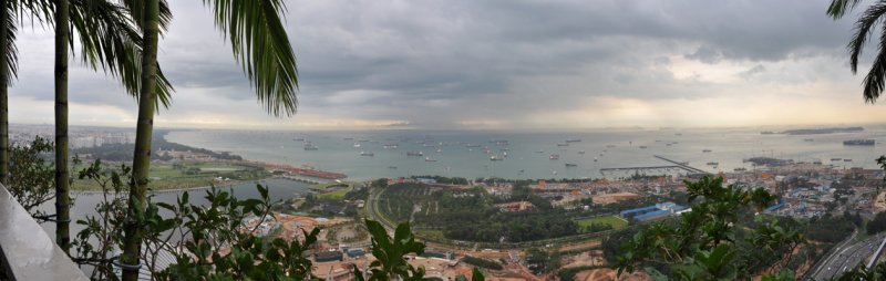 Panoramic view south from the Sky Garden, Singapore