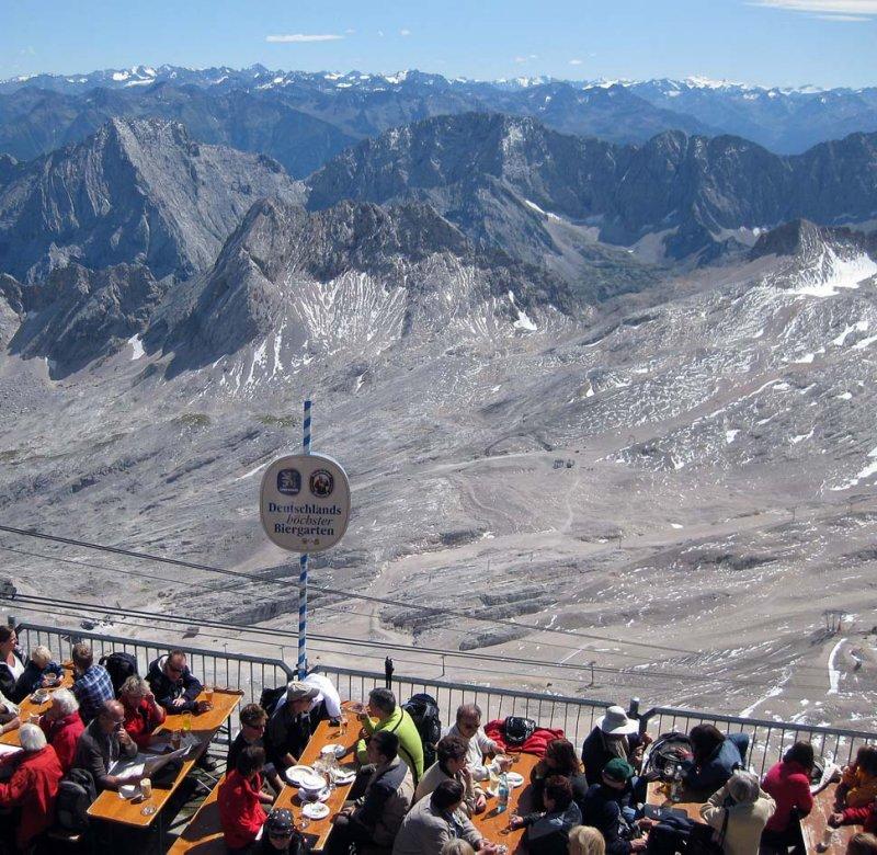 Zugspitze Germanys highest beer garden