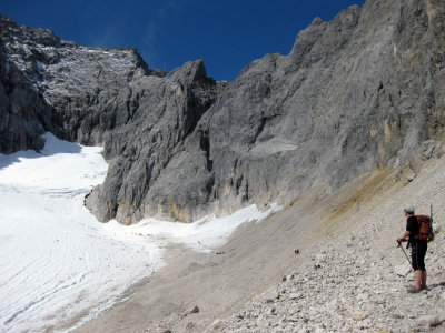 Zugspitze Martina looks to glacier