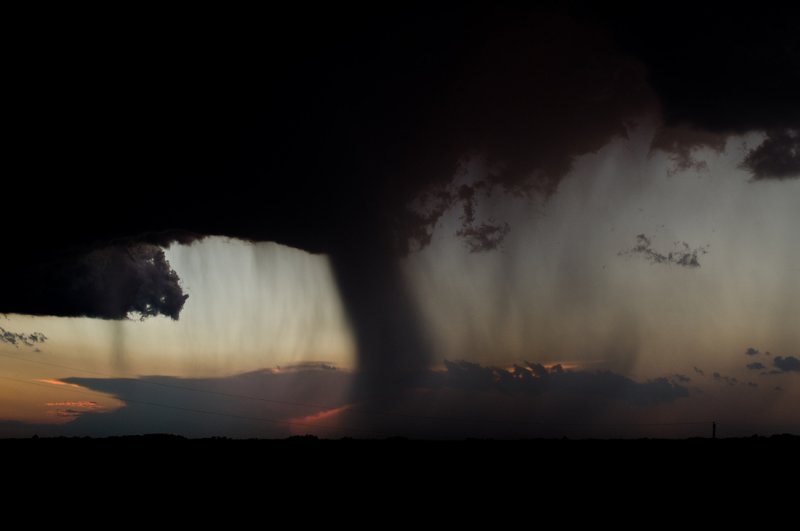 Backlit  Rain Shaft (Tornado Look Alike)