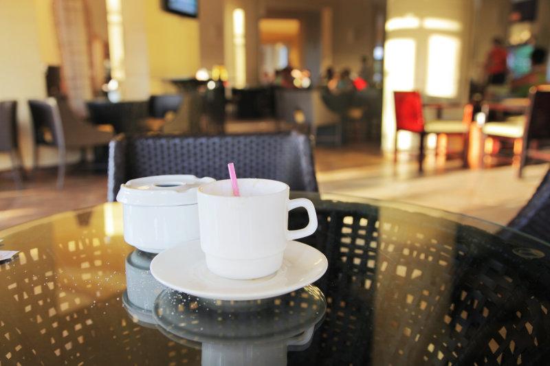 Cappuccino dans le lobby
