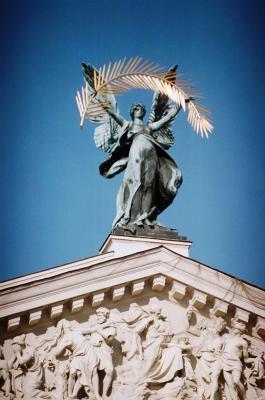 Sculpture atop Lviv Opera House