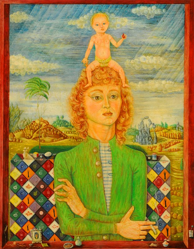 Lady with Her Baby - Sylvia Fein