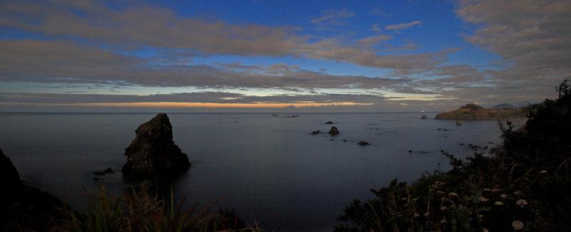 Moonlit Sunset at Otter Point