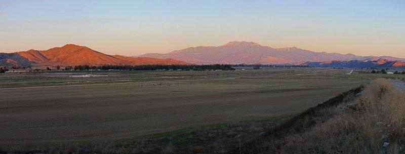San Jacinto Valley at Sunset