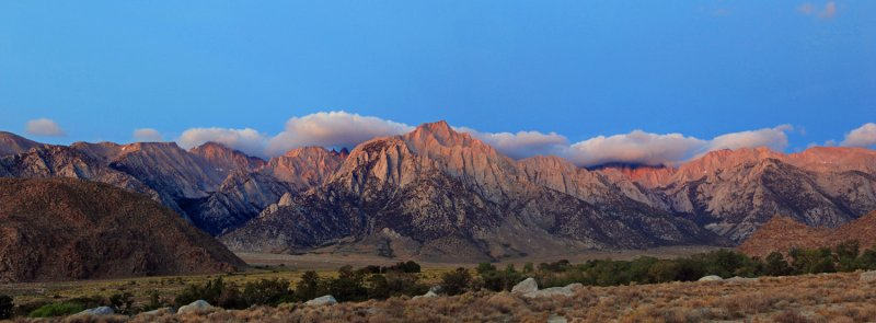 The Sierra Crest at Mt. Whitney and Lone Pine Peak