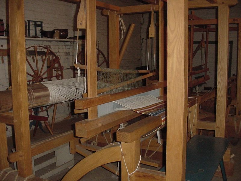 A typical loom to make cloth
