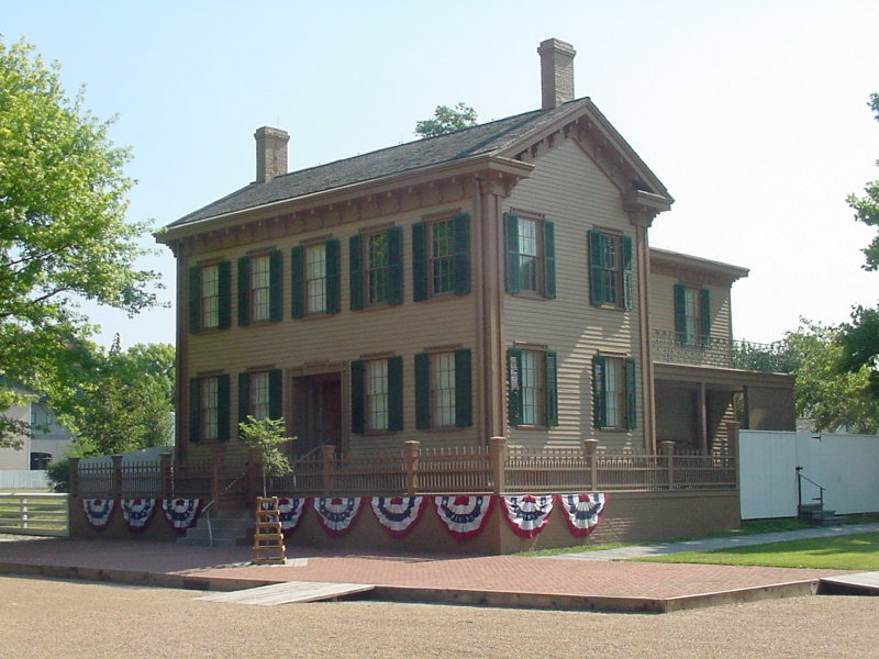 Yup, this is where the Lincoln Family lived...
