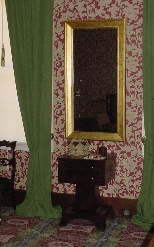 Check out the mirror, they liked to look good in the 1800s, too!