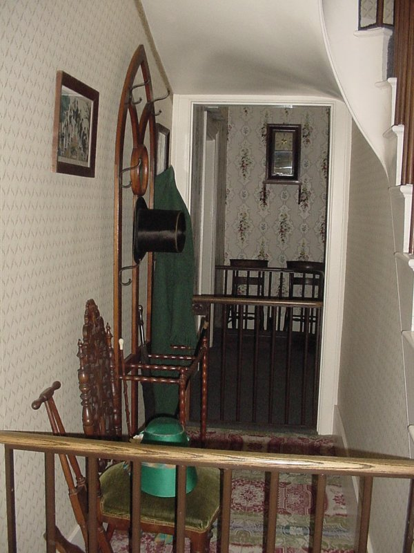 This is the area to the left of the stairwell.