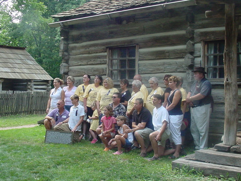 This is a descendant reunion photo taken at the Trent home, I believe, but am not certain.