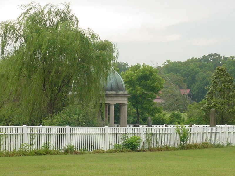 The area behind the fence is the Jackson Family graveyard, which I will visit after seeing the interior of the home.