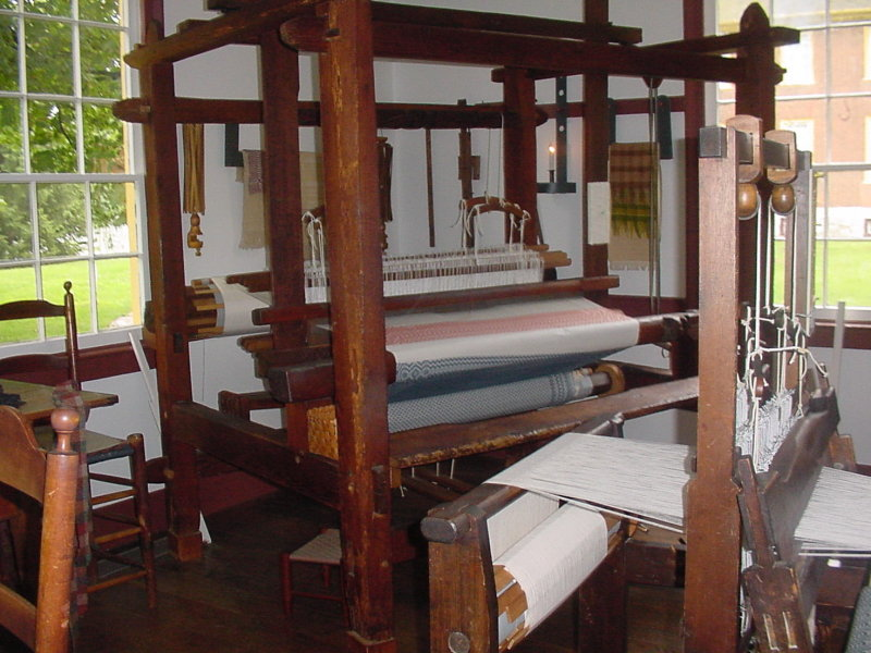 These looms were used for weaving cloth.
