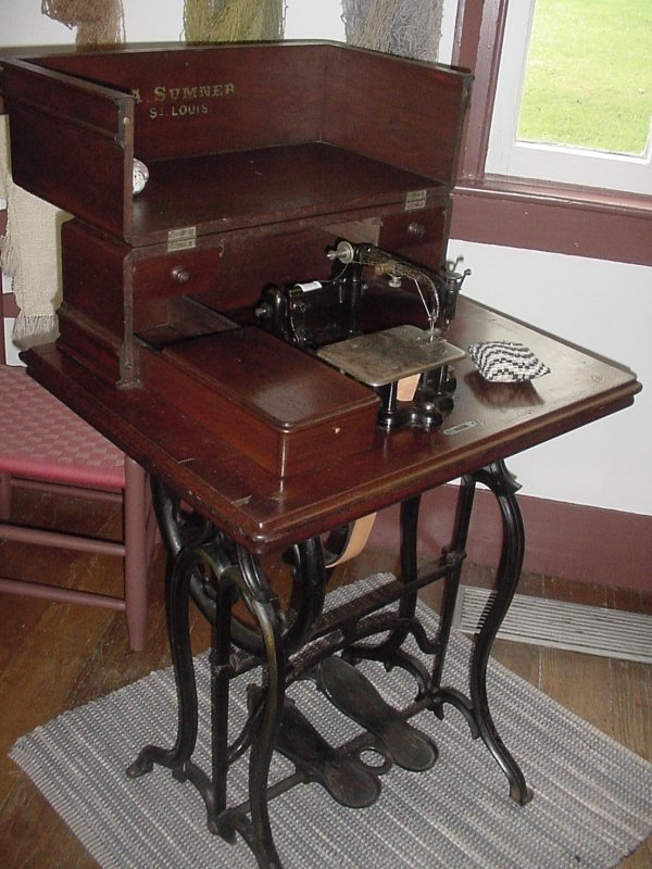 This early Sumner sewing machine was made in St. Louis, Missouri.