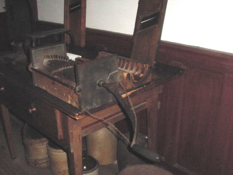 This is an early version of a food processor.